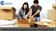Packers and movers Bangalore local shifting charges approx.